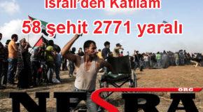 İsrail'de Filistin Katliamı