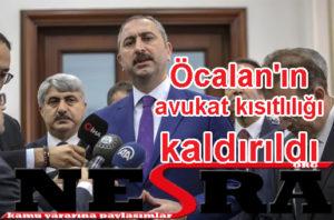 Öcalan'ın avukat kısıtlılığı kaldırıldı
