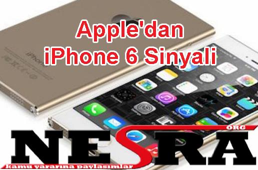 Apple'dan iPhone 6 Sinyali