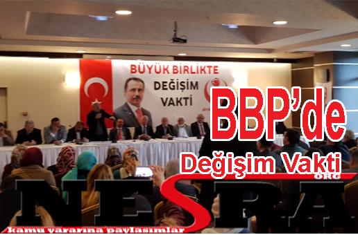 BBP'de Değişim Vakti
